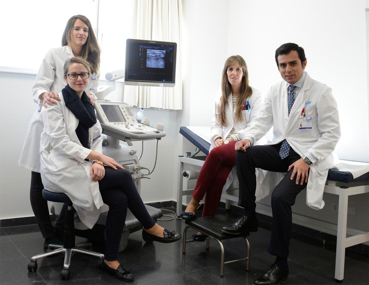 David Fernández y su equipo de Vascular.