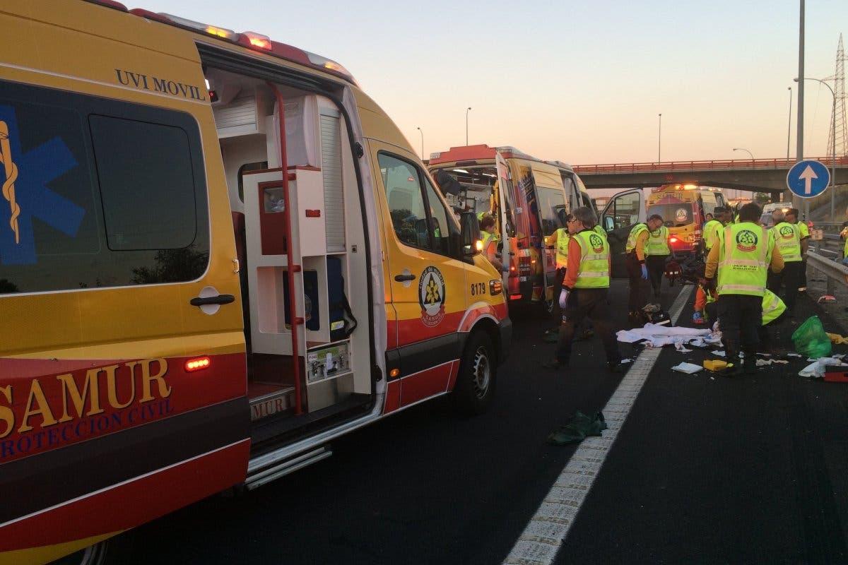 Muere una joven y un hombre pierde una pierna en un accidente en la M-45