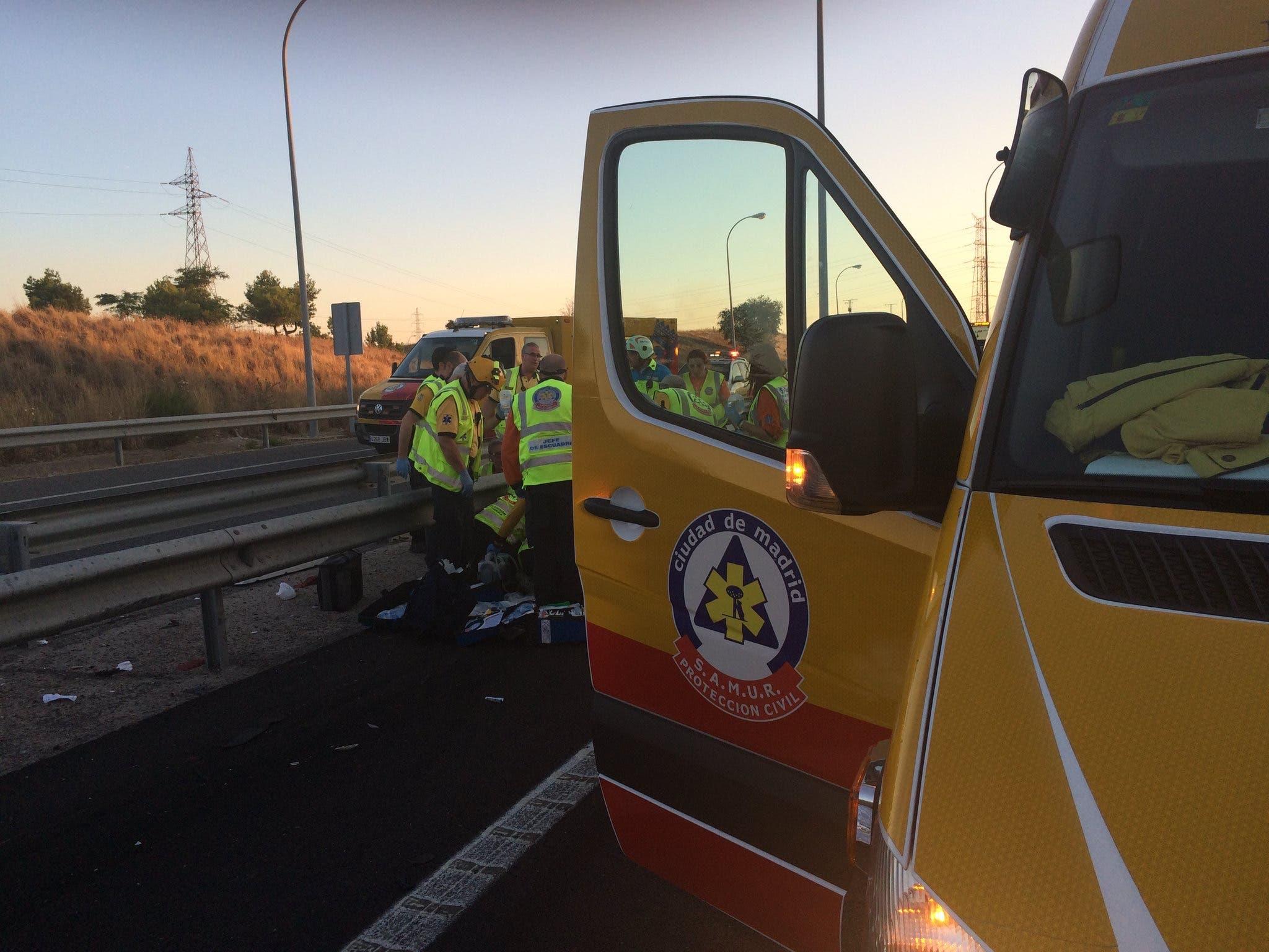 Imágenes del accidente (Emergencias Madrid).
