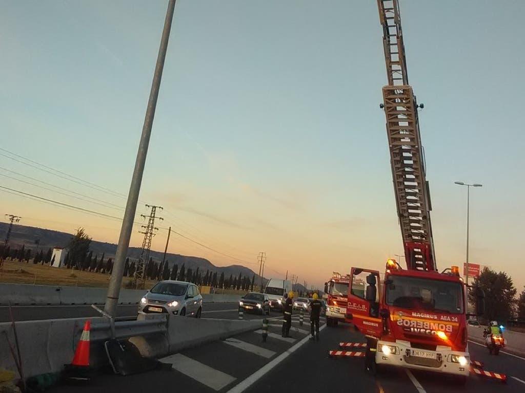 Un accidente en la A-2 provoca retenciones en Azuqueca