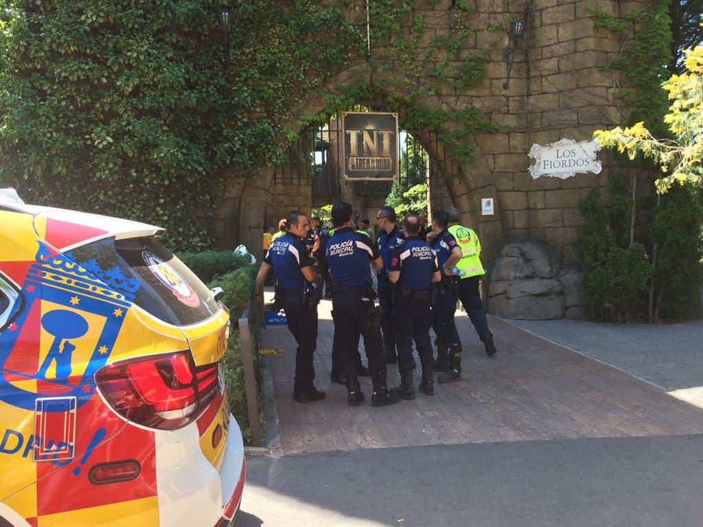 La Policía investiga las causas del accidente en el Parque de Atracciones