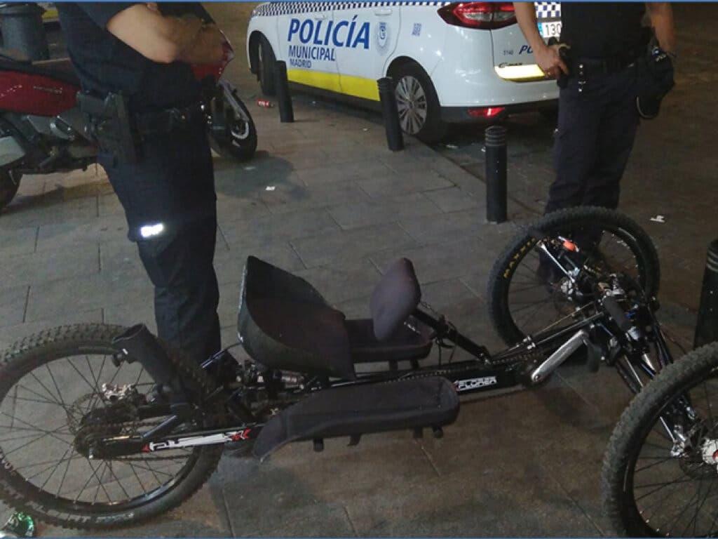 La Policía recupera la bicicleta robada a una atleta paralímpica en Madrid