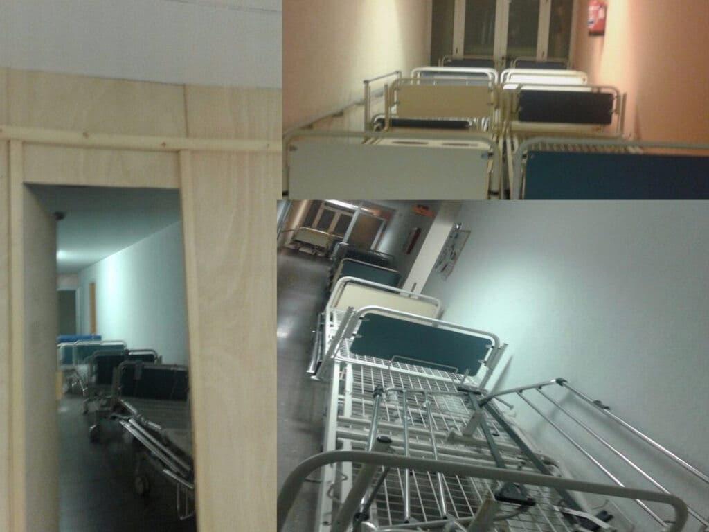 Las camas rotas «se amontonan» en el Hospital de Guadalajara