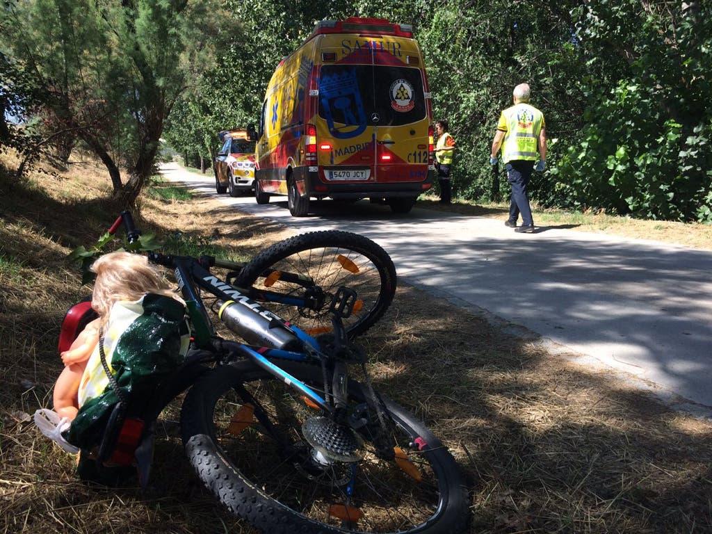 Herido grave un ciclista tras sufrir un accidente en Madrid
