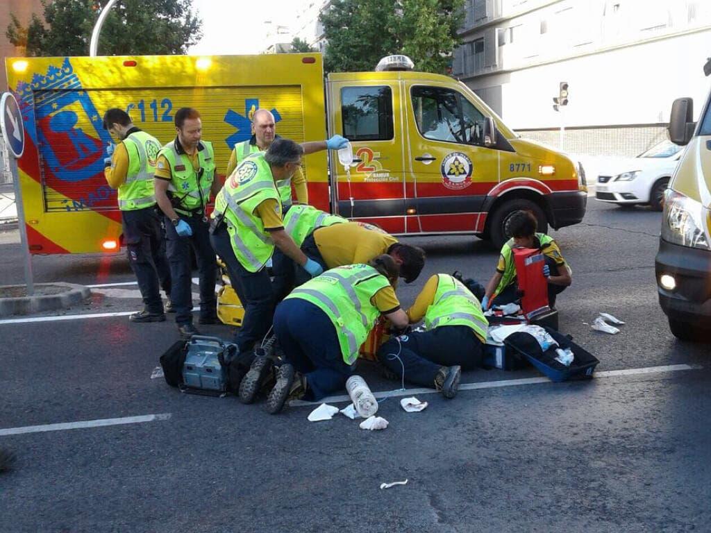 Herido grave un ciclista tras ser atropellado por una furgoneta