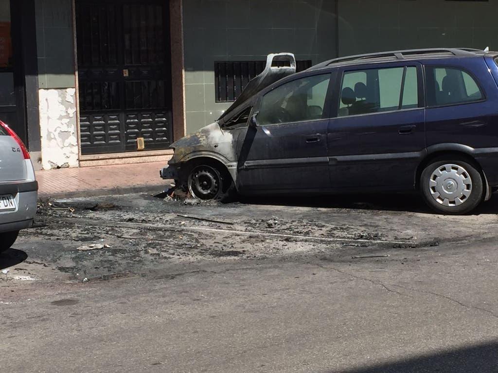 Uno de los coches afectados (MiraCorredor.tv).