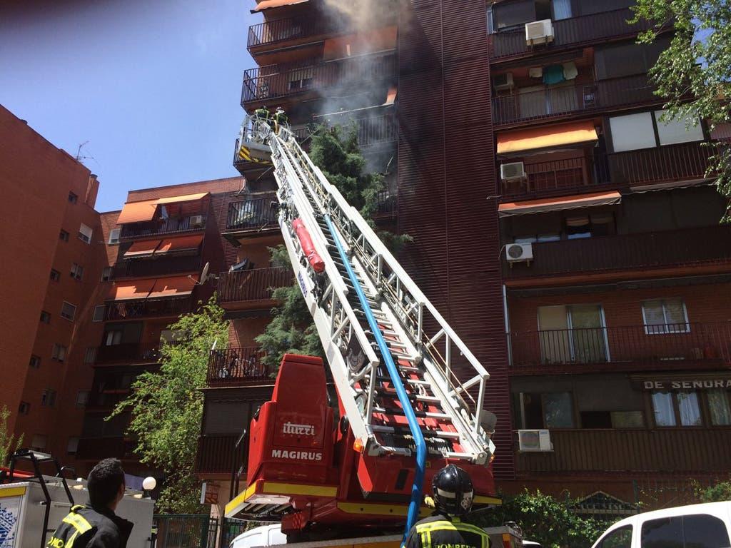 Imágenes del suceso (Emergencias Madrid).