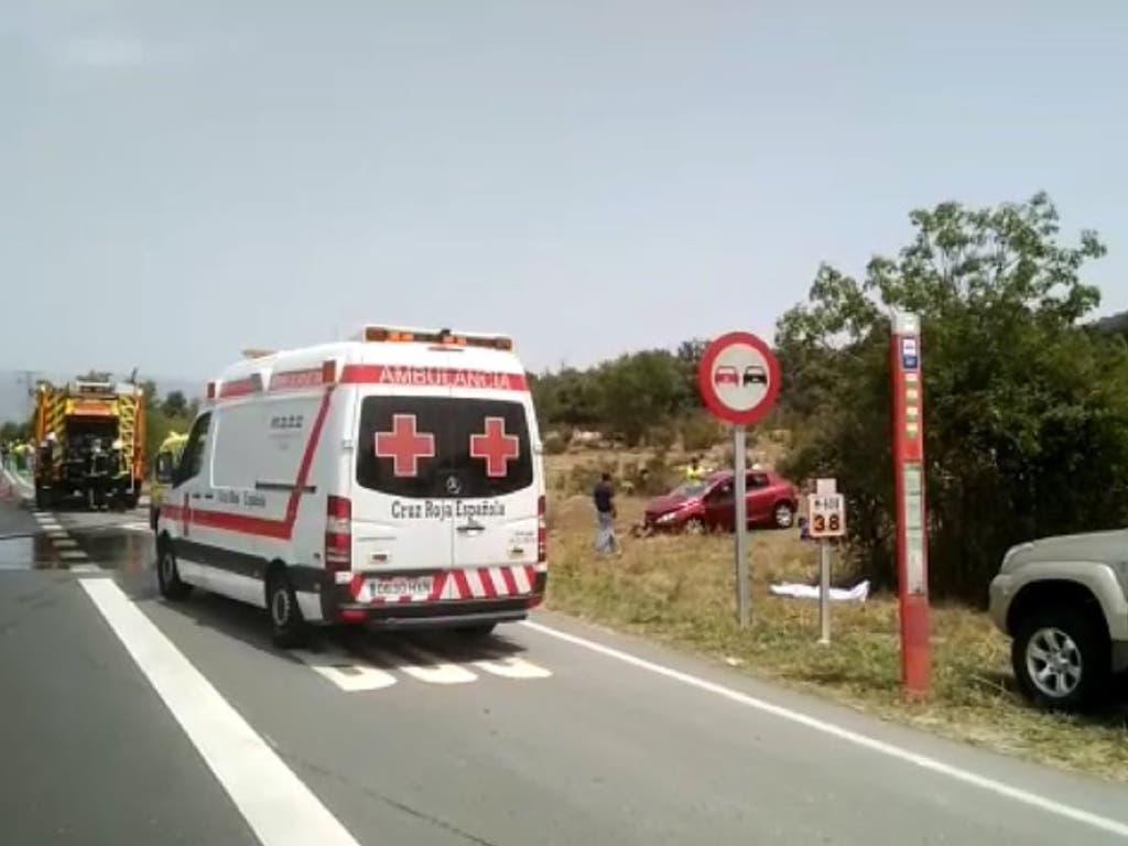 Seis heridos en un accidente múltiple, entre ellos una embarazada y un niño