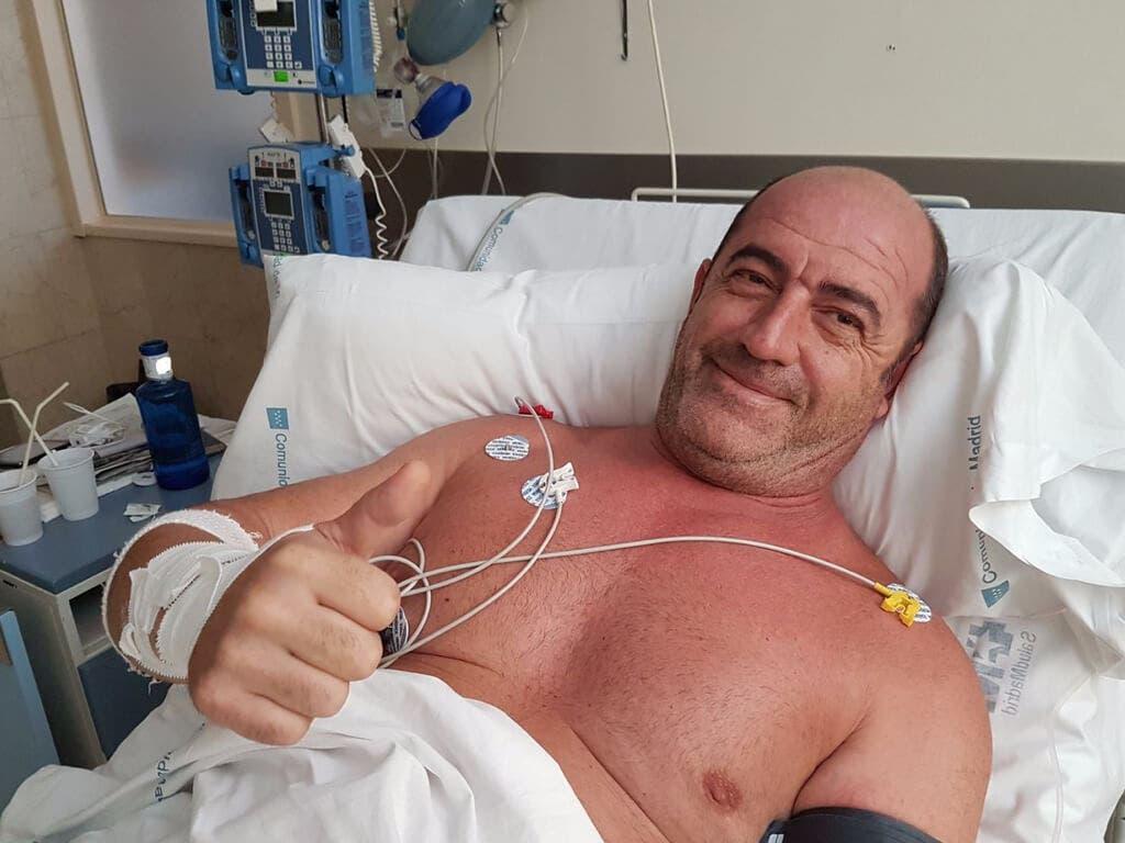 Recibe el alta el bombero que sufrió un infarto tras un incendio en Vallecas