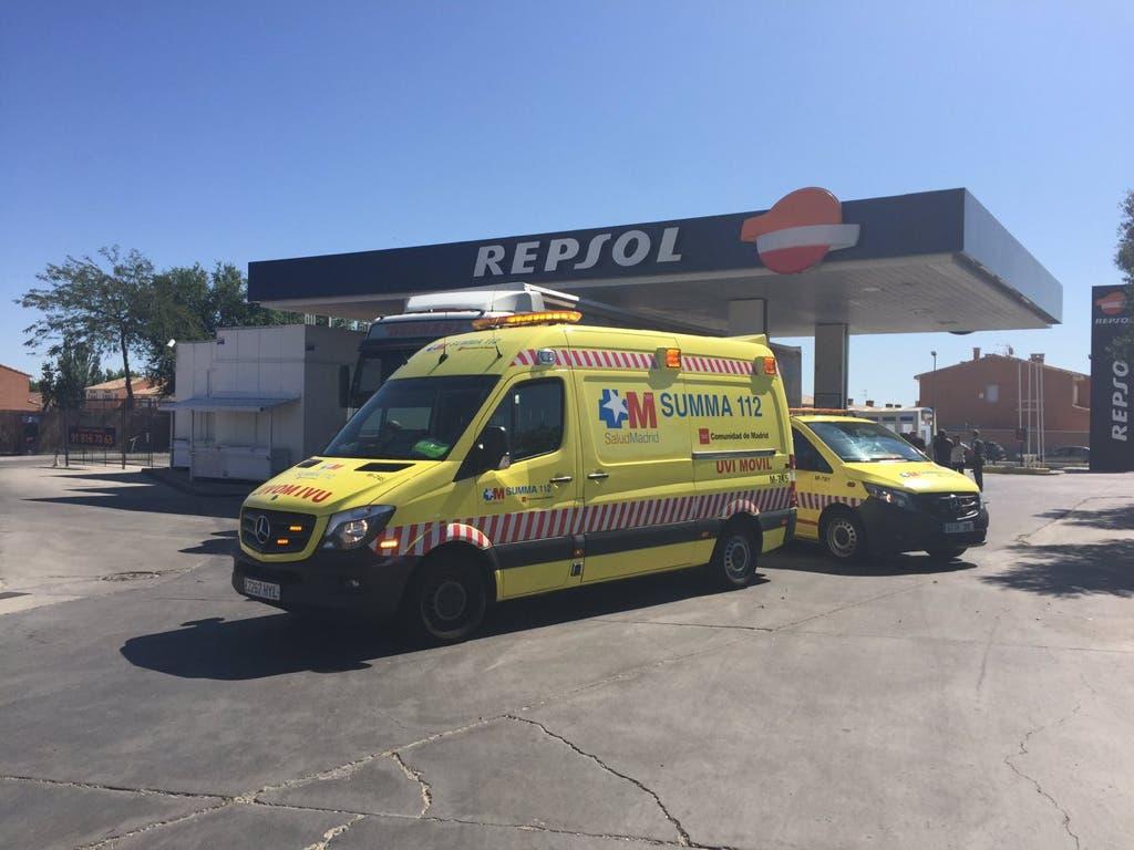 Muere un hombre atropellado por un camión en una gasolinera