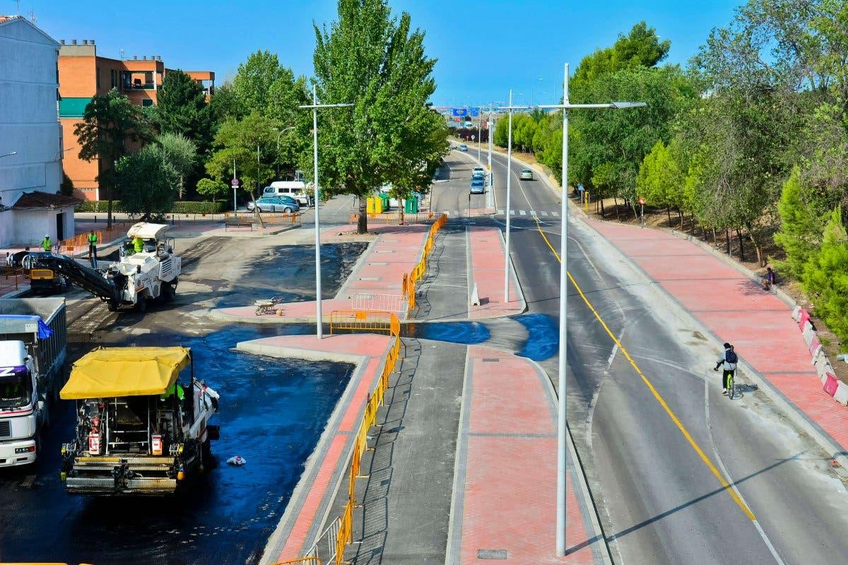 Avanzan las obras del cuarto carril del Puente de Fronteras, en Torrejón