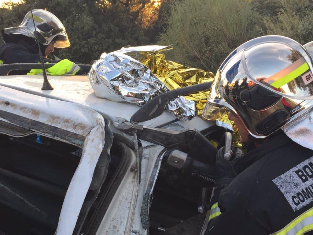 Un accidente en la M-503 deja un herido grave