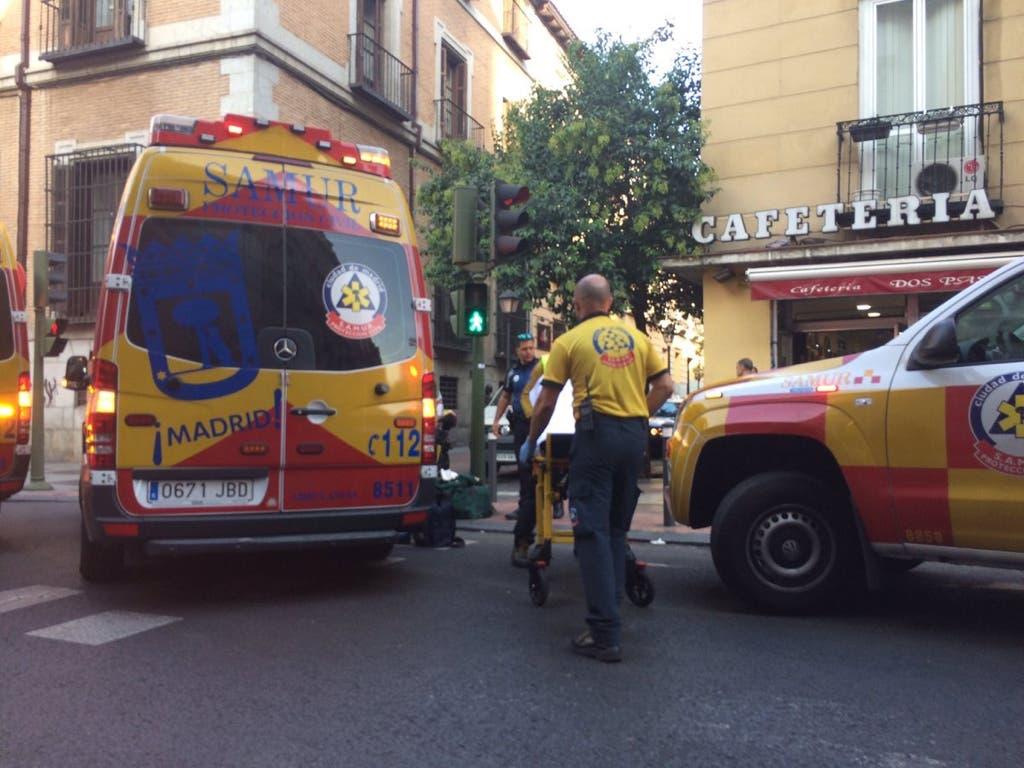 Grave atropello en la calle San Bernardo, en Madrid