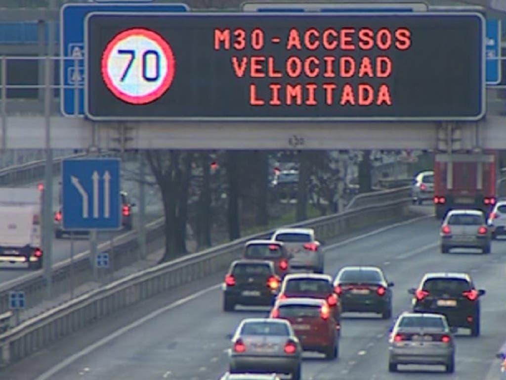Madrid mantiene este sábado las restricciones al tráfico por contaminación