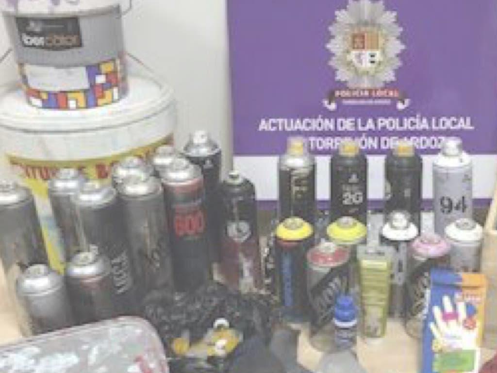 Mano dura contra los que realizan pintadas vandálicas en Torrejón