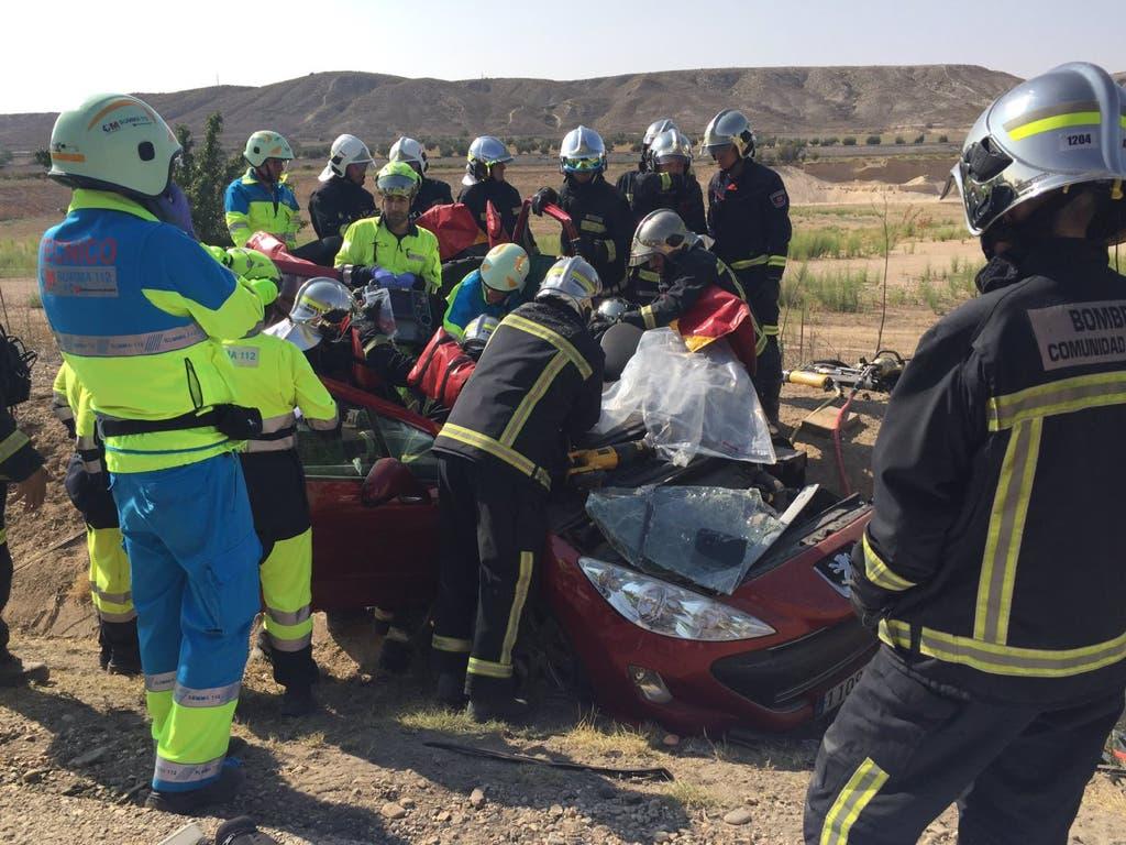 Herido grave un hombre cuyo rescate ha durado más de una hora