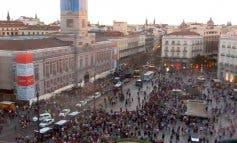 Gritos cruzados en Sol de «Viva España» y «Cataluña no está sola»