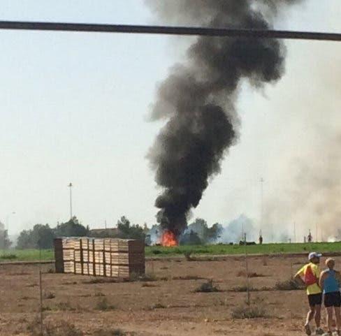 Muere un piloto tras estrellarse un avión militar cuando regresaba del Desfile