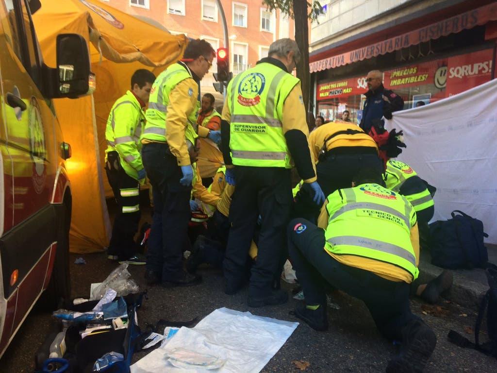 Muere una anciana atropellada por un autobús en Madrid