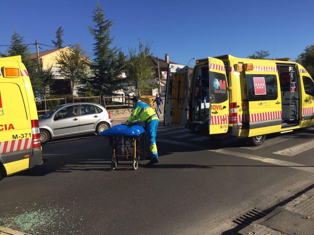 Herido grave un ciclista en un accidente de tráfico en Madrid