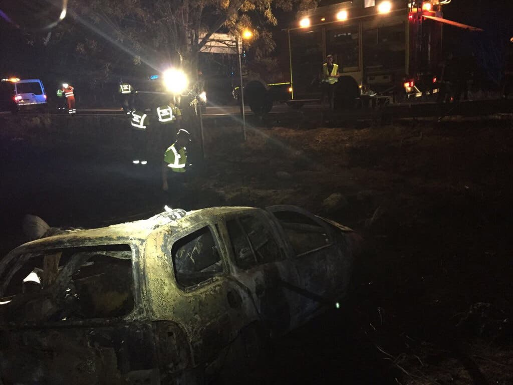 Identificados los cadáveres calcinados en el accidente de Guadalix