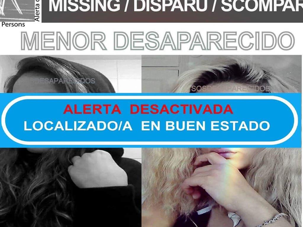 Localizada en buen estado la menor desaparecida en Madrid