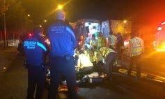 Herido grave un motorista tras perder el control de su moto