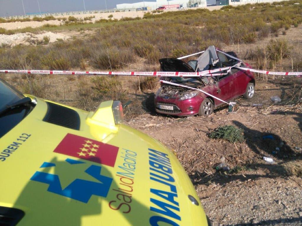 Herido un hombre en un aparatoso accidente en Campo Real