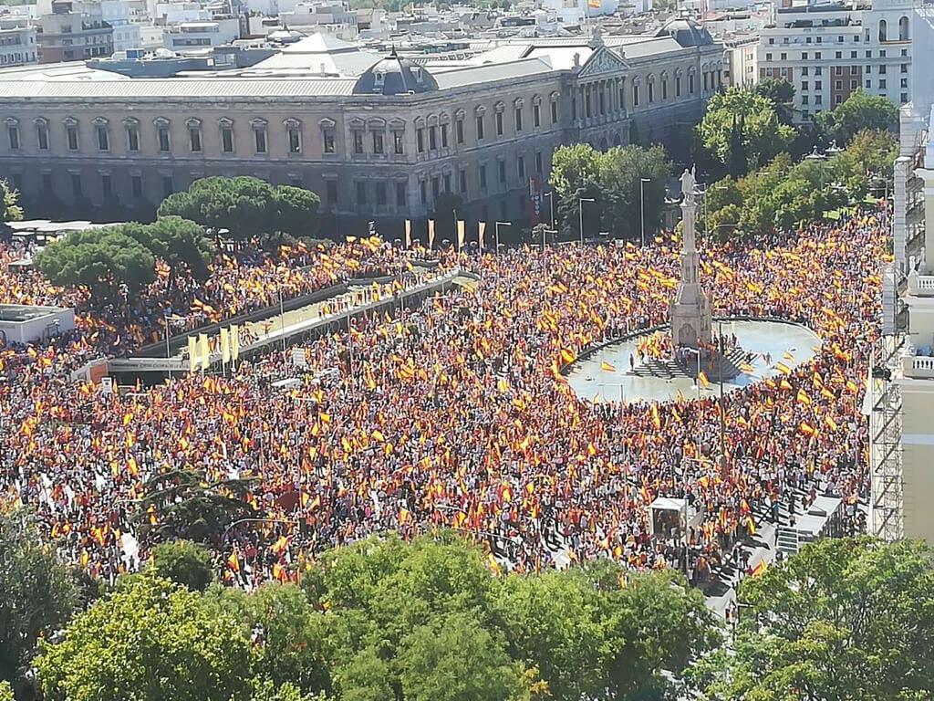 Madrid se manifiesta por la unidad de España