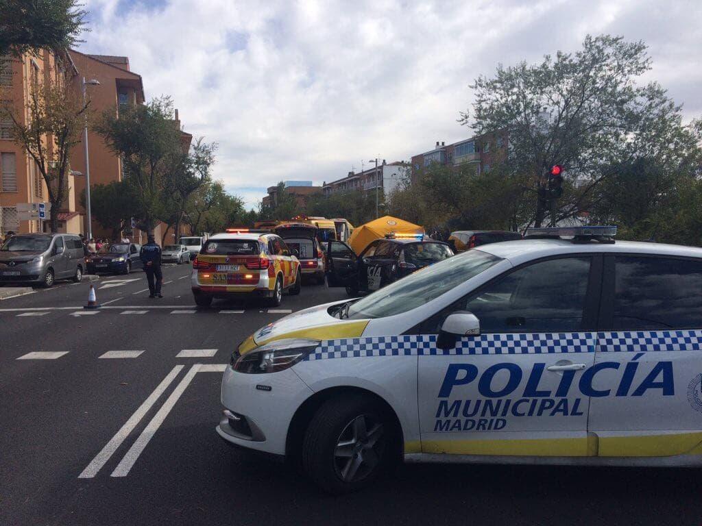 Muy grave una anciana tras ser atropellada en Madrid
