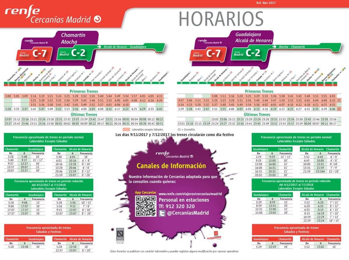 Nuevos horarios Cercanías.