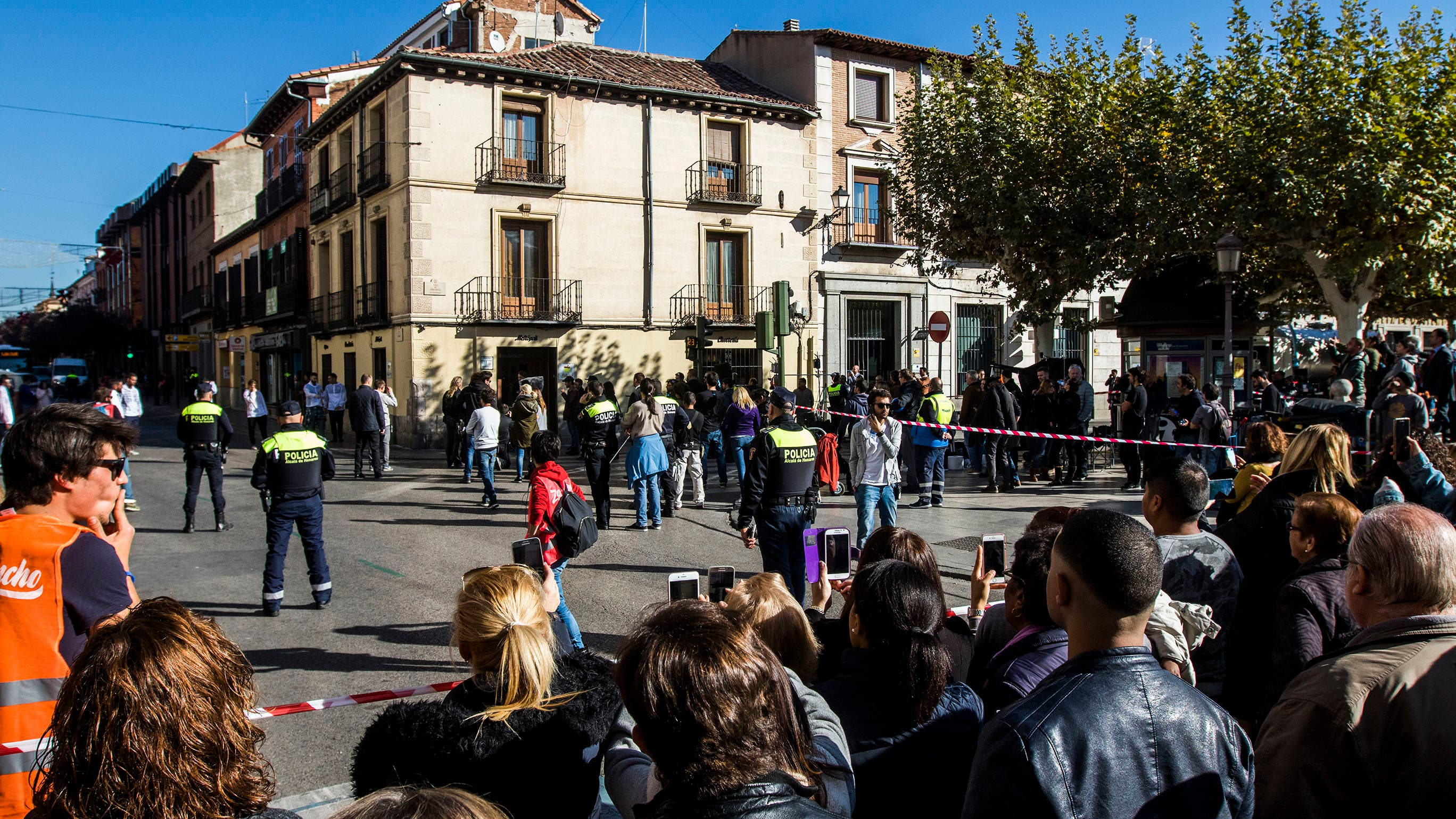 Plaza de Cervantes, escenario del spot (Ayto. Alcalá).