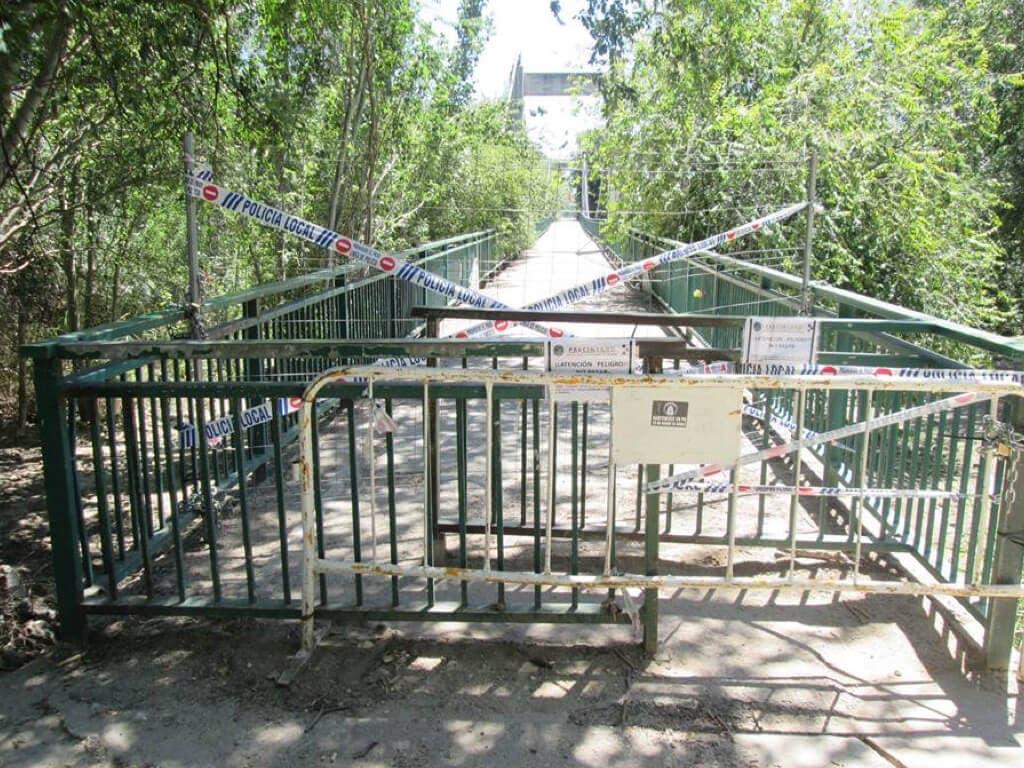 Comienza la reparación del Puente Verde de San Fernando