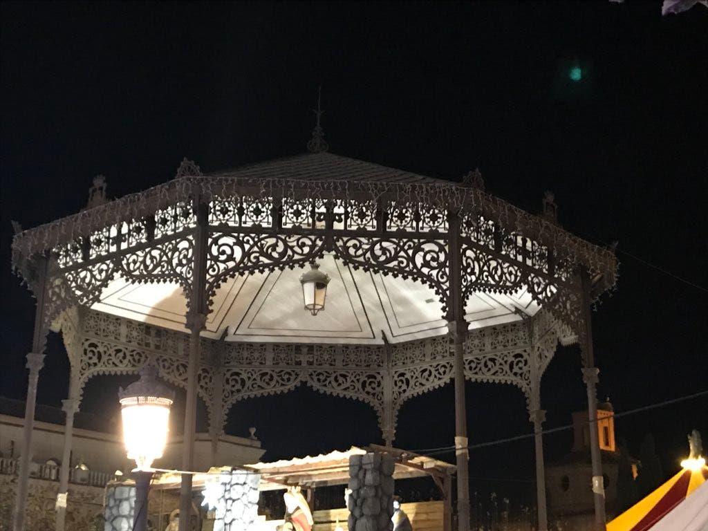 El Quiosco de la Música de la Plaza de Cervantes.