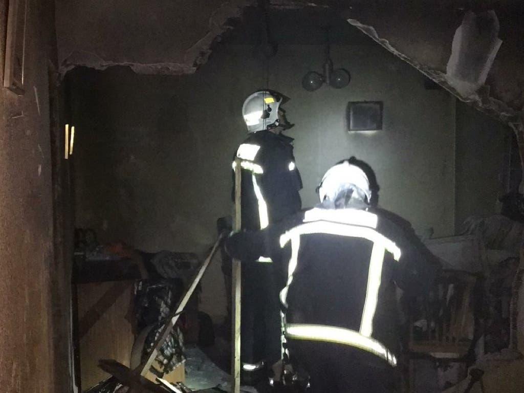 Cinco heridos tras una explosión de gas butano en una vivienda
