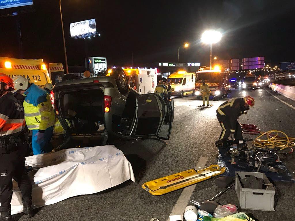 Tres heridos en un accidente en la M-40