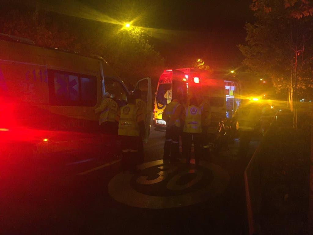 Herido grave un hombre en un accidente de moto en Madrid