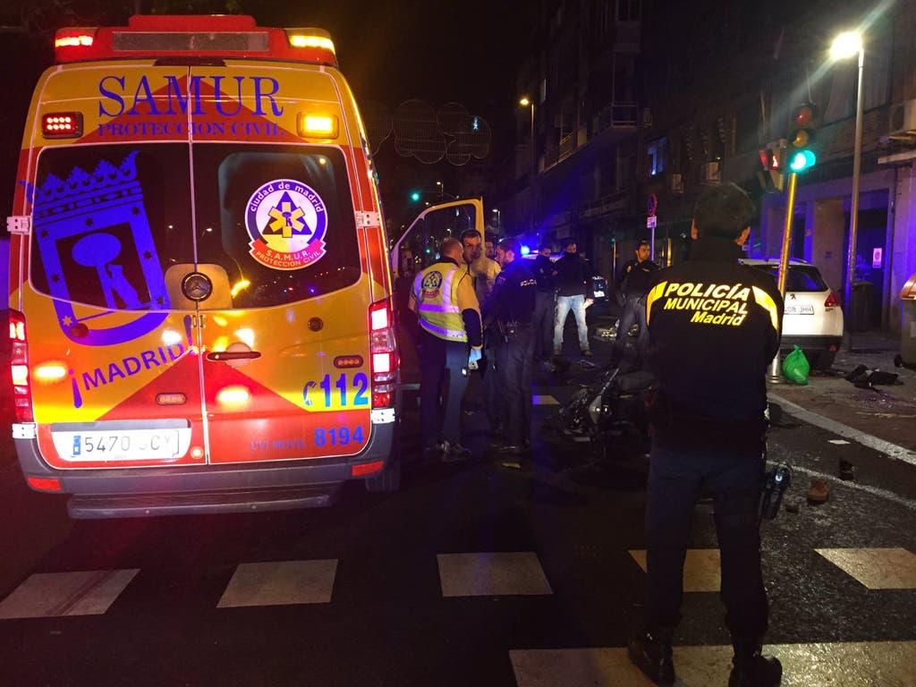 Herido grave un joven motorista tras sufrir un accidente en Madrid