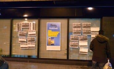 Detenidos 8 activistas de la PAH por «okupar» un banco en Cabanillas