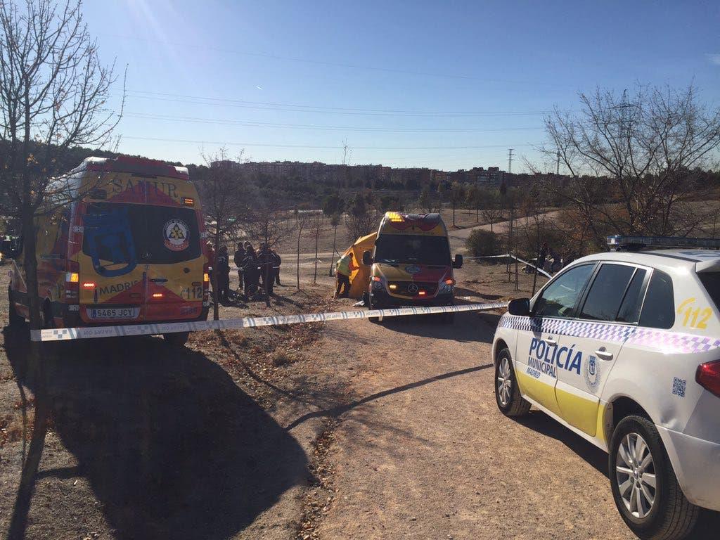 En estado crítico un ciclista accidentado en un parque de Madrid