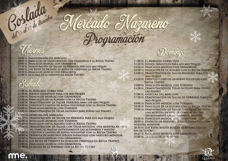 Programación del Mercado Nazareno de Coslada.