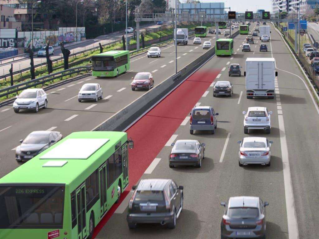 Acuerdo entre Fomento y la Comunidad de Madrid sobre el Bus-Vao de la A-2