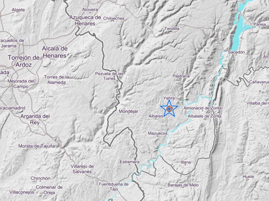 Terremoto de 3,7 en la localidad de Yebra (Guadalajara)