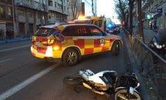Muere un motorista tras sufrir un accidente en la calle Alcalá