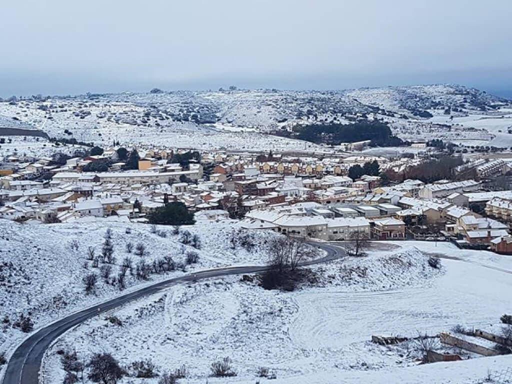 La nieve se queda a las puertas de Alcalá de Henares