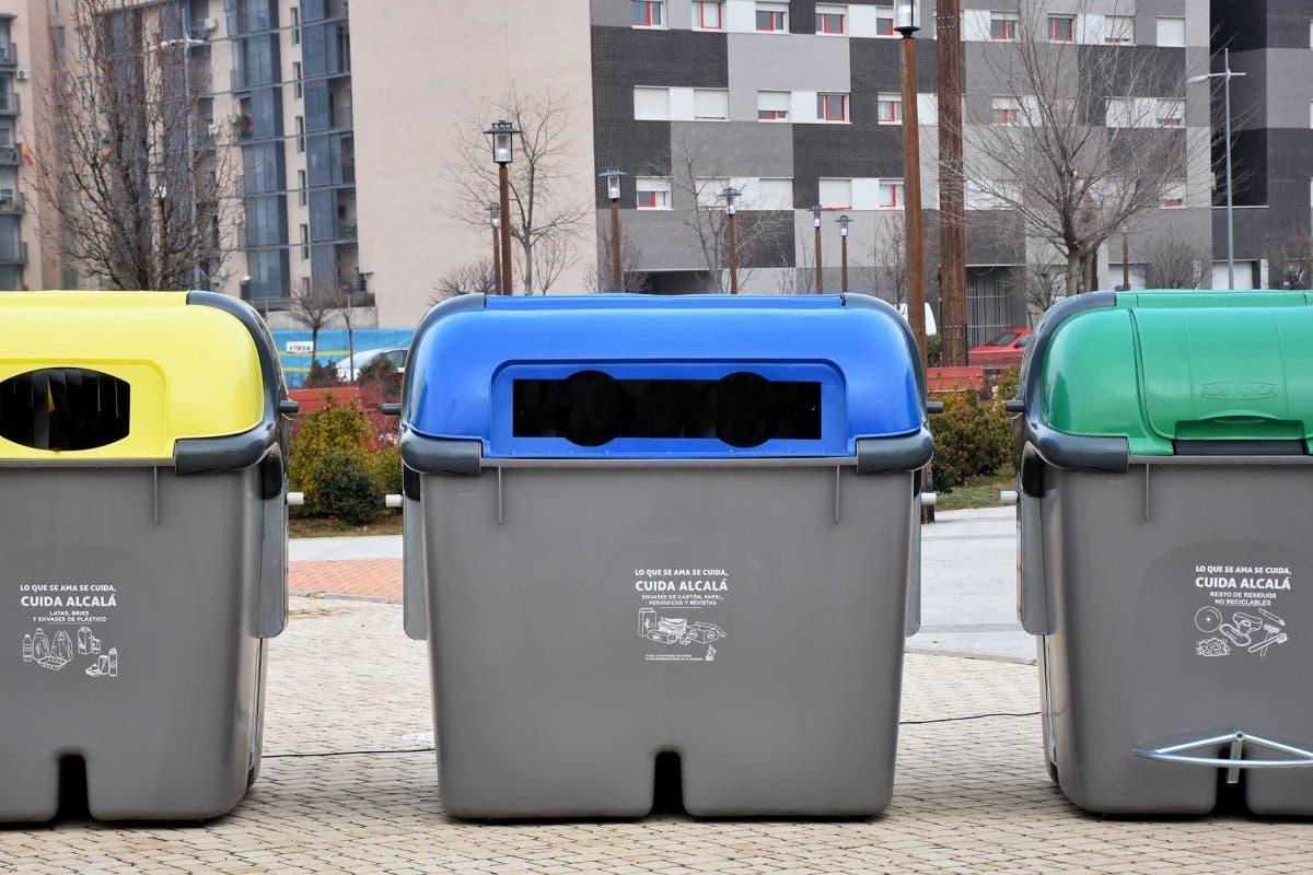 Así son los nuevos contenedores de basura de Alcalá de Henares