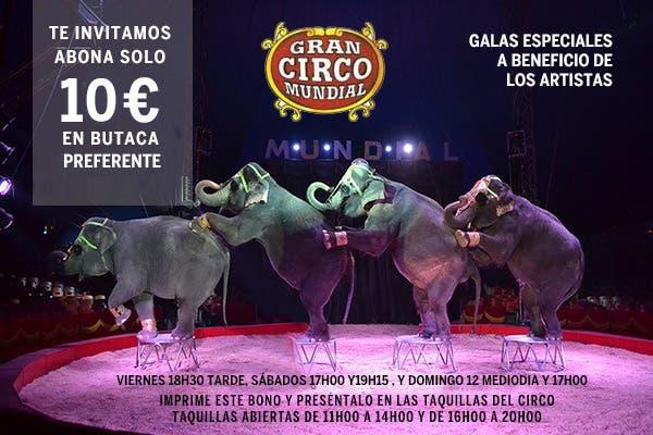 Bono para las funciones especiales (Circo Mundial).