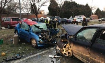 Dos jóvenes heridos en un accidente de tráfico en Coslada