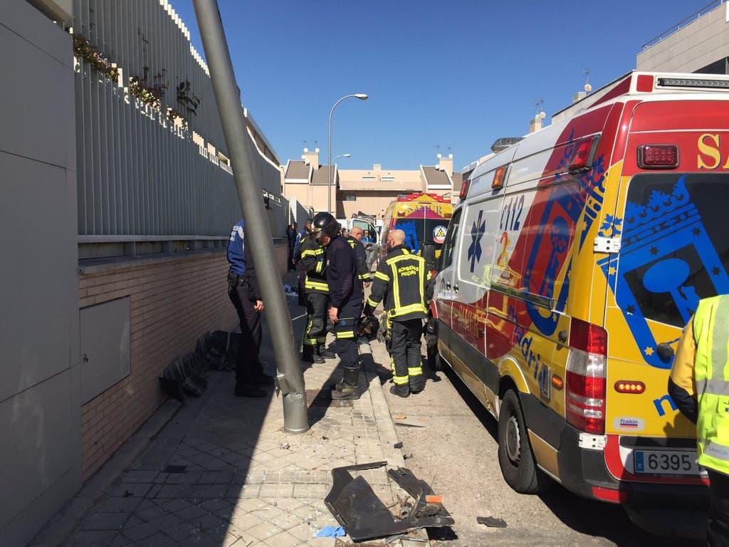 Herido grave al ser atropellado por su propio camión en Madrid