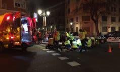 Un joven sufre un grave accidente de moto en Madrid